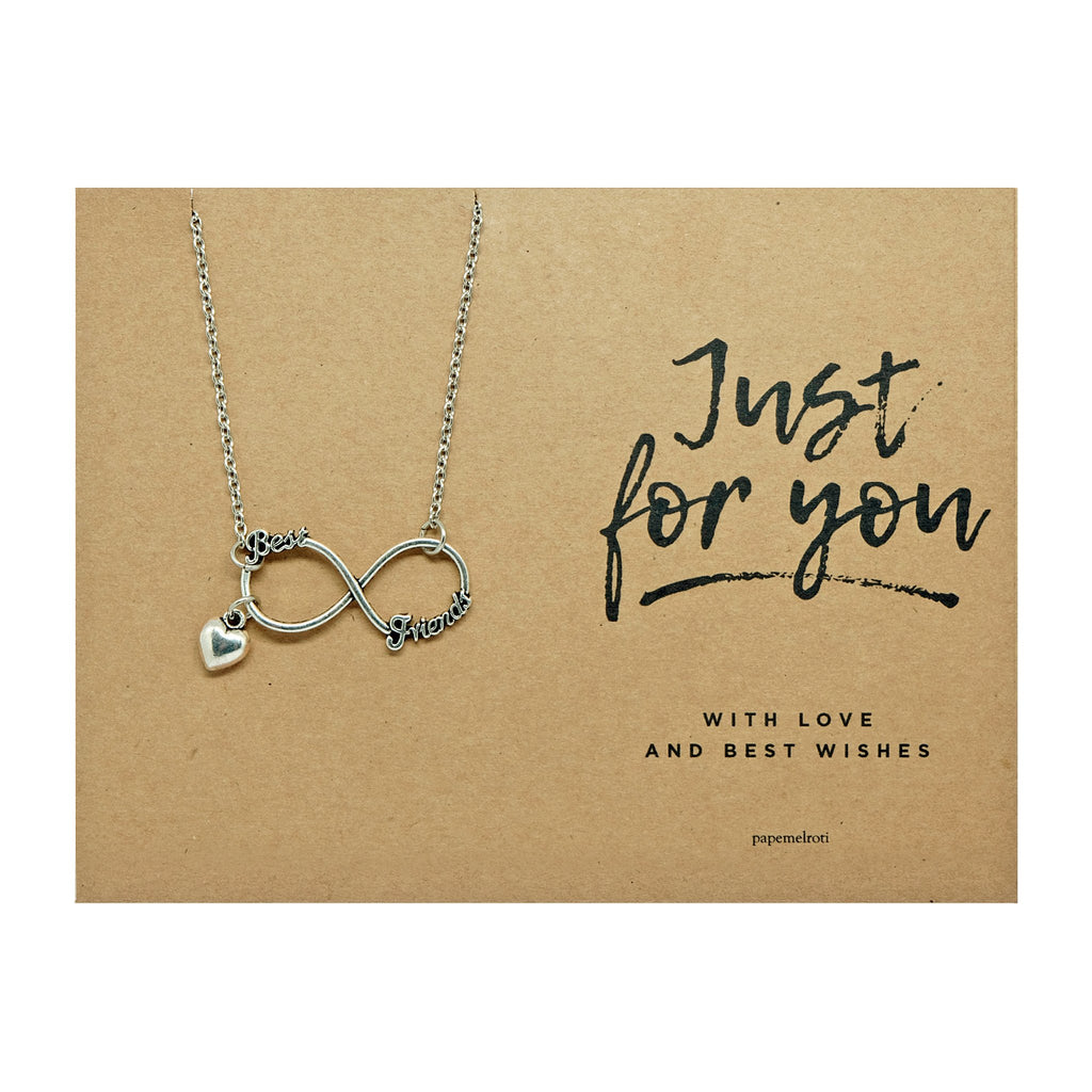 Best Friends Infinity Necklace Jewelry Gift Card