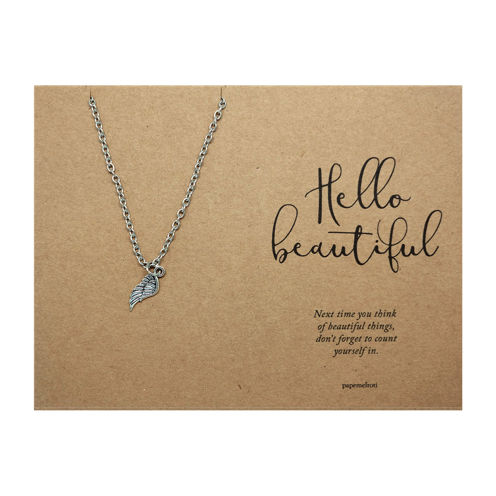 Wing Necklace Jewelry Gift Card
