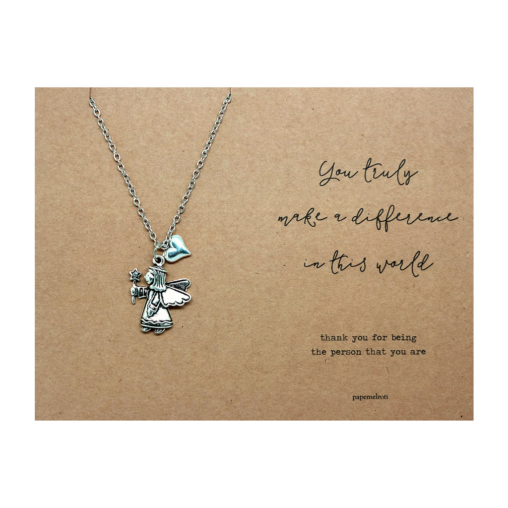 angel necklace jewelry gift card papemelroti