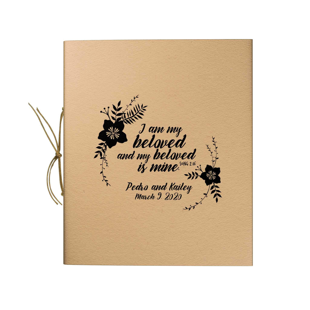 Floral Border Trim Kraft Notebook
