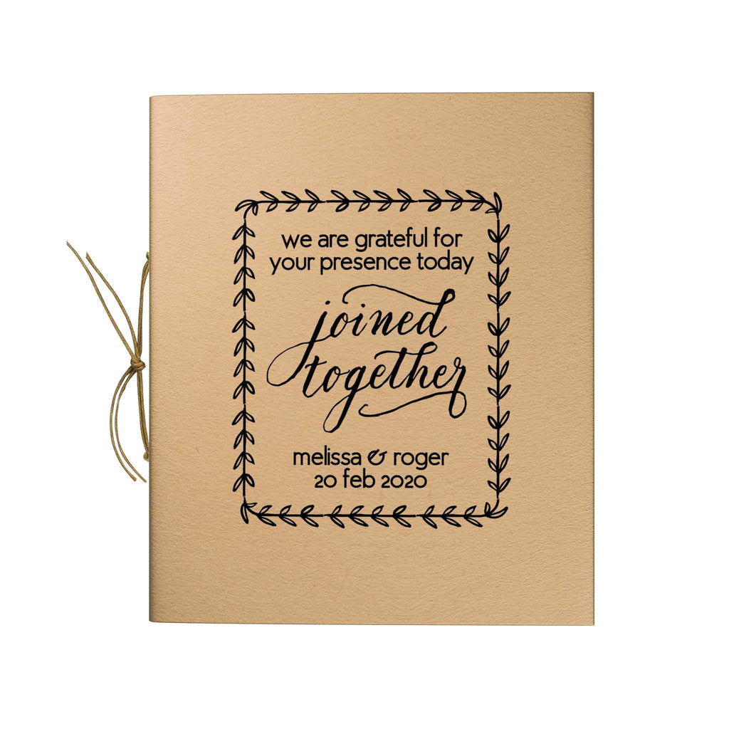 Joined Together Trim Kraft Notebook
