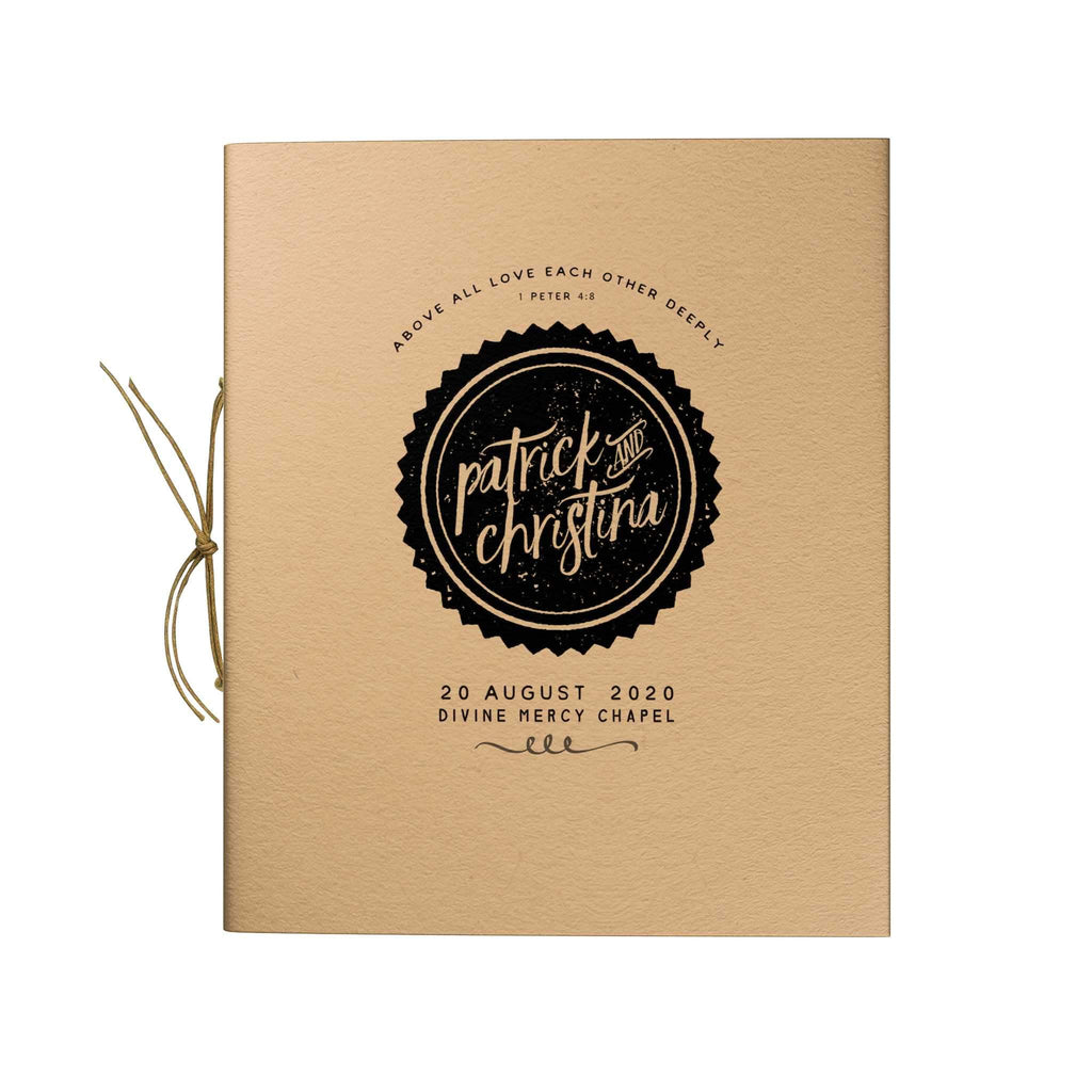 Seal Trim Kraft Notebook