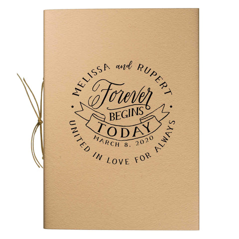 Forever Begins Today Border Trim Kraft Notebook