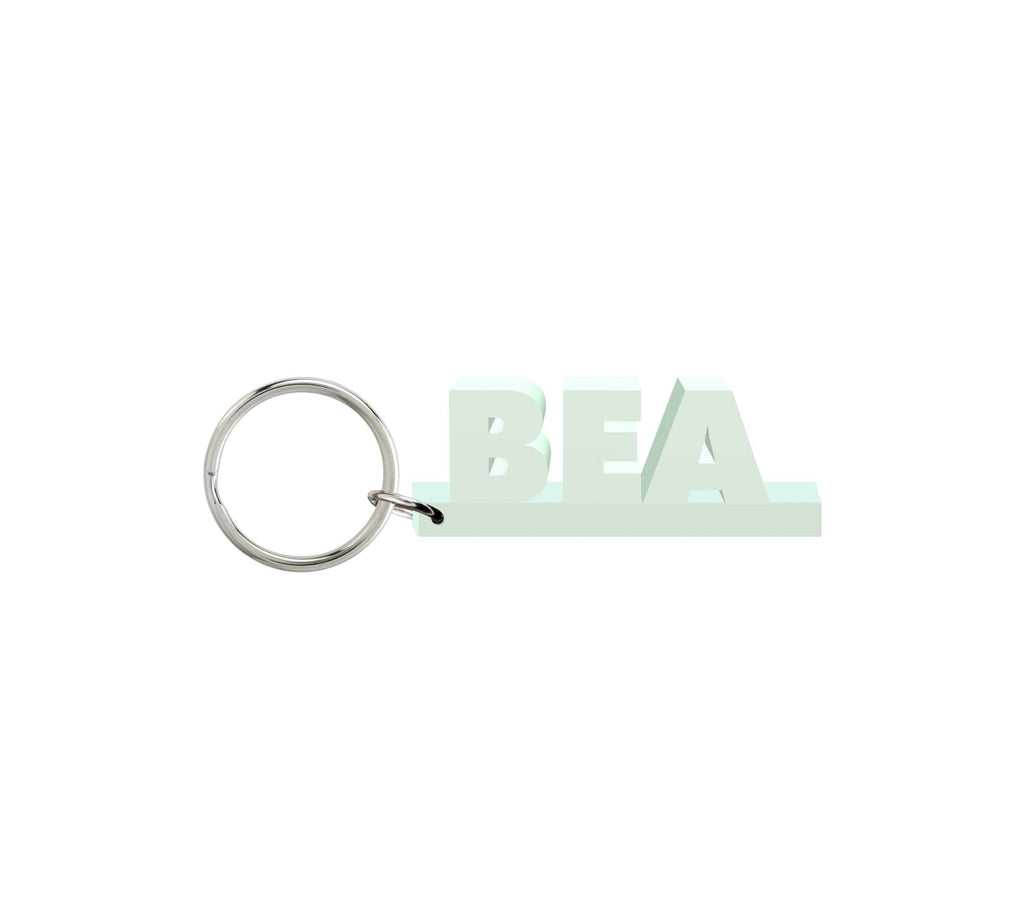 Bea Wooden Name Keychain