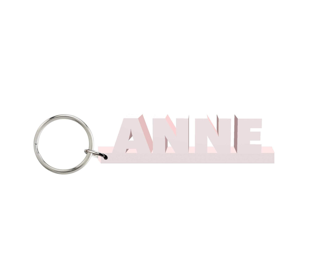 Anne Wooden Name Keychain