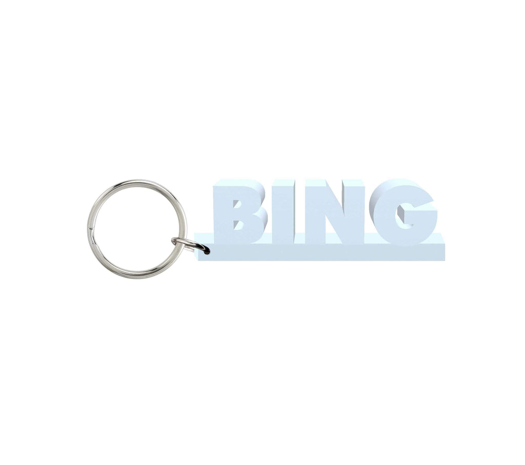 Bing Wooden Name Keychain