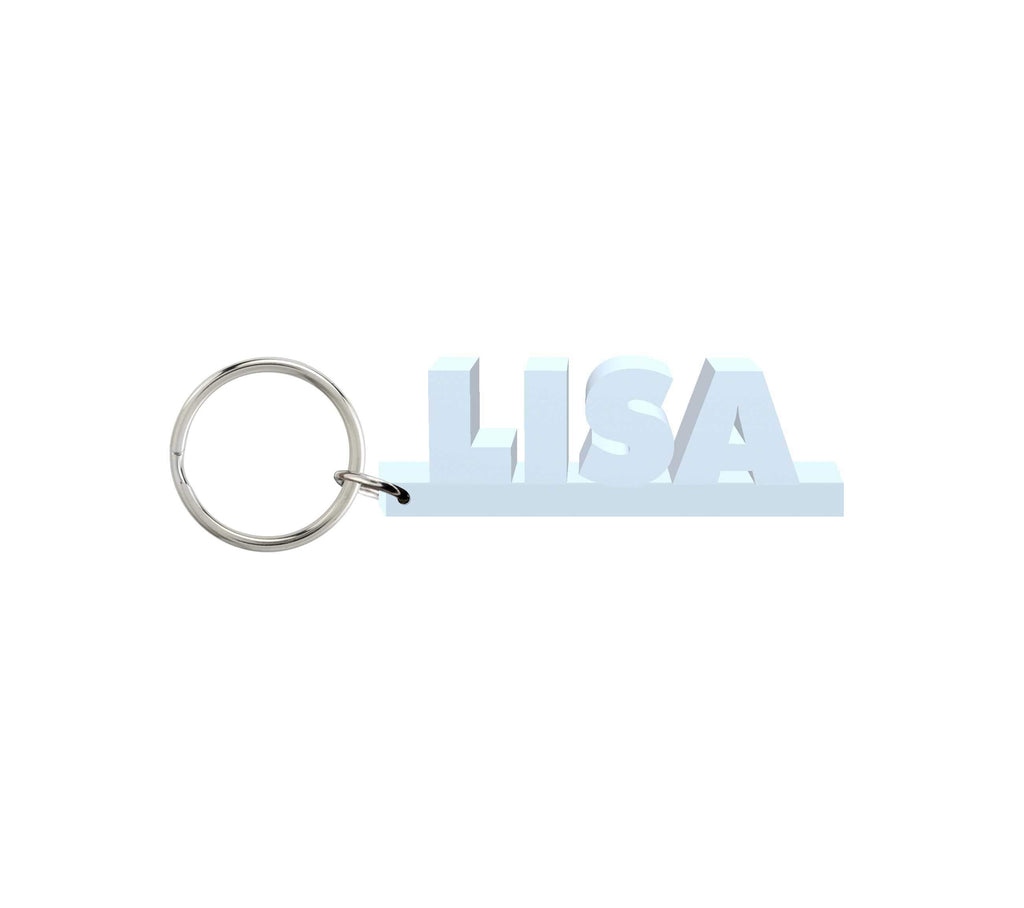 Lisa Wooden Name Keychain