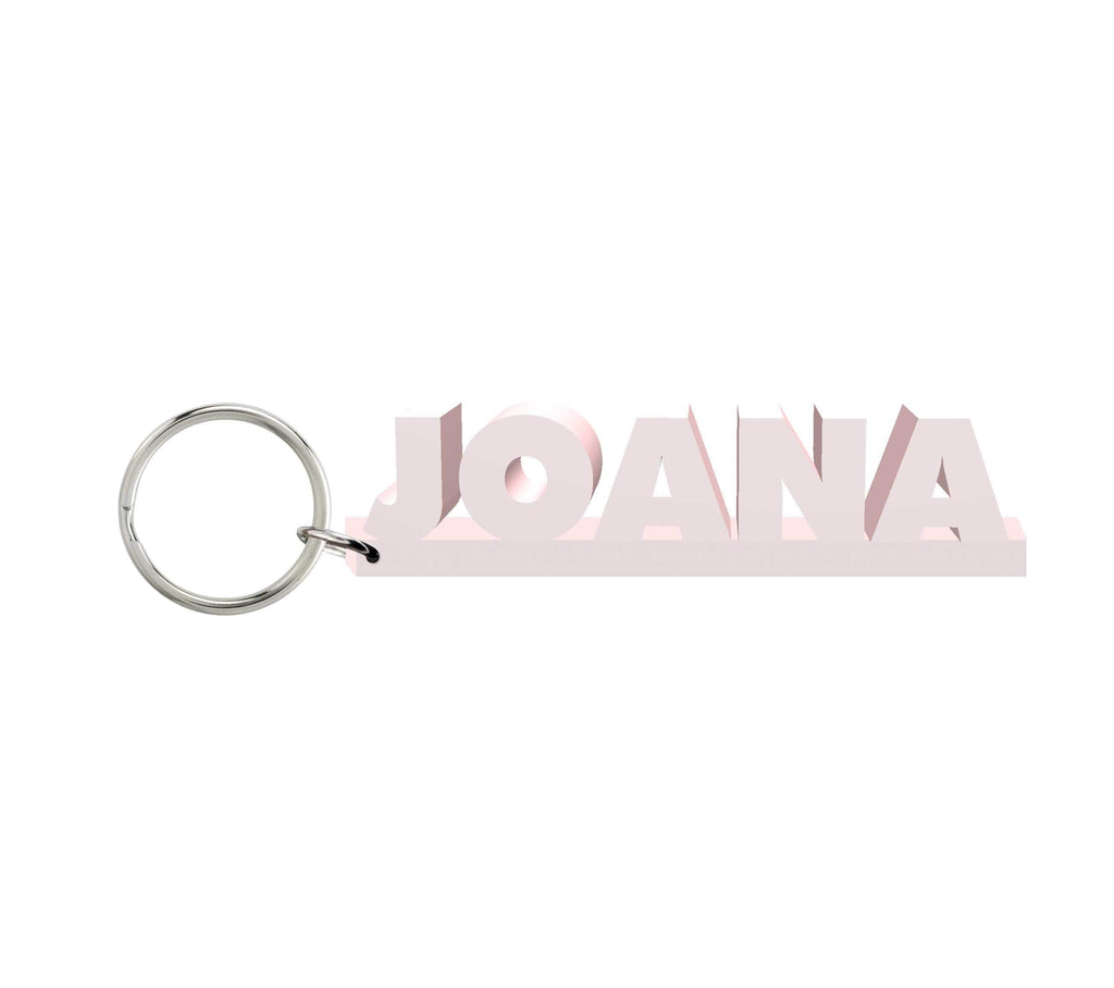 Joana Wooden Name Keychain