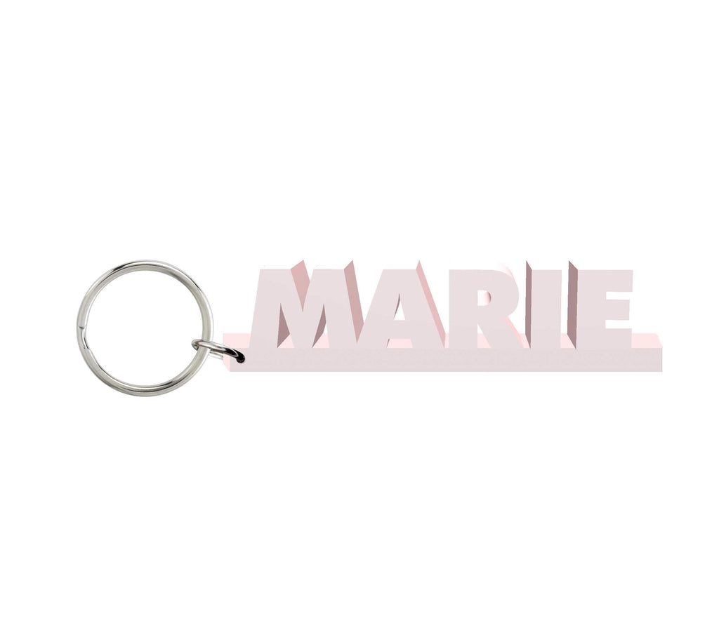 Marie Wooden Name Keychain
