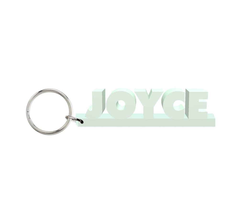 Joyce Wooden Name Keychain