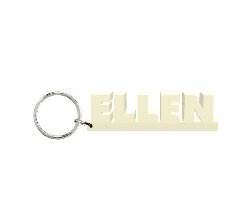 Ellen Wooden Name Keychain