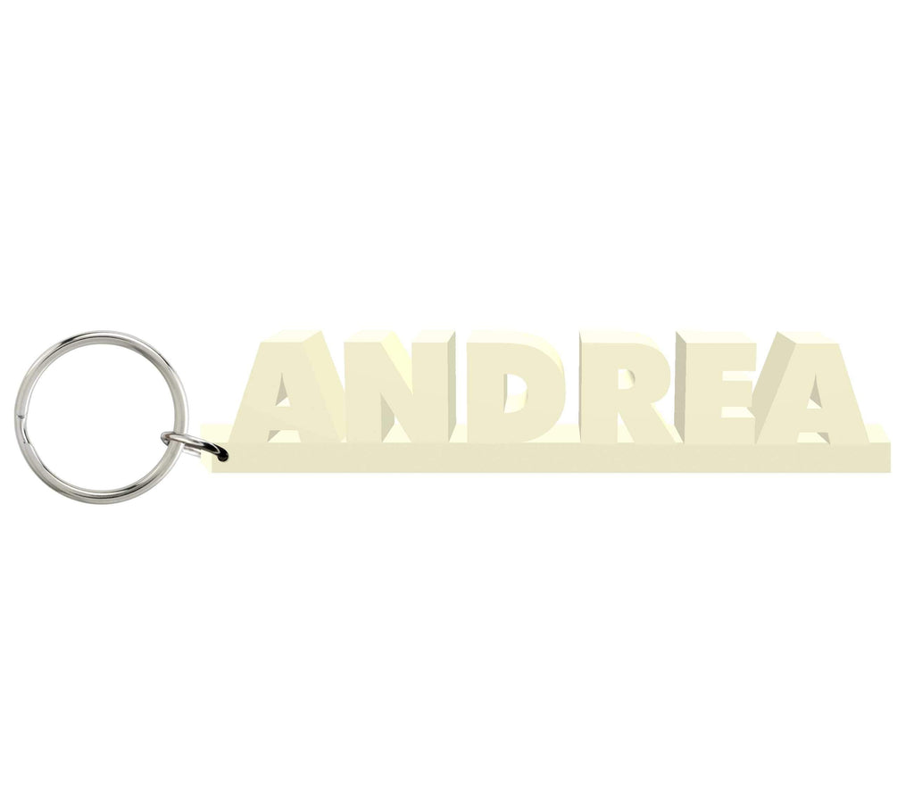Andrea Wooden Name Keychain