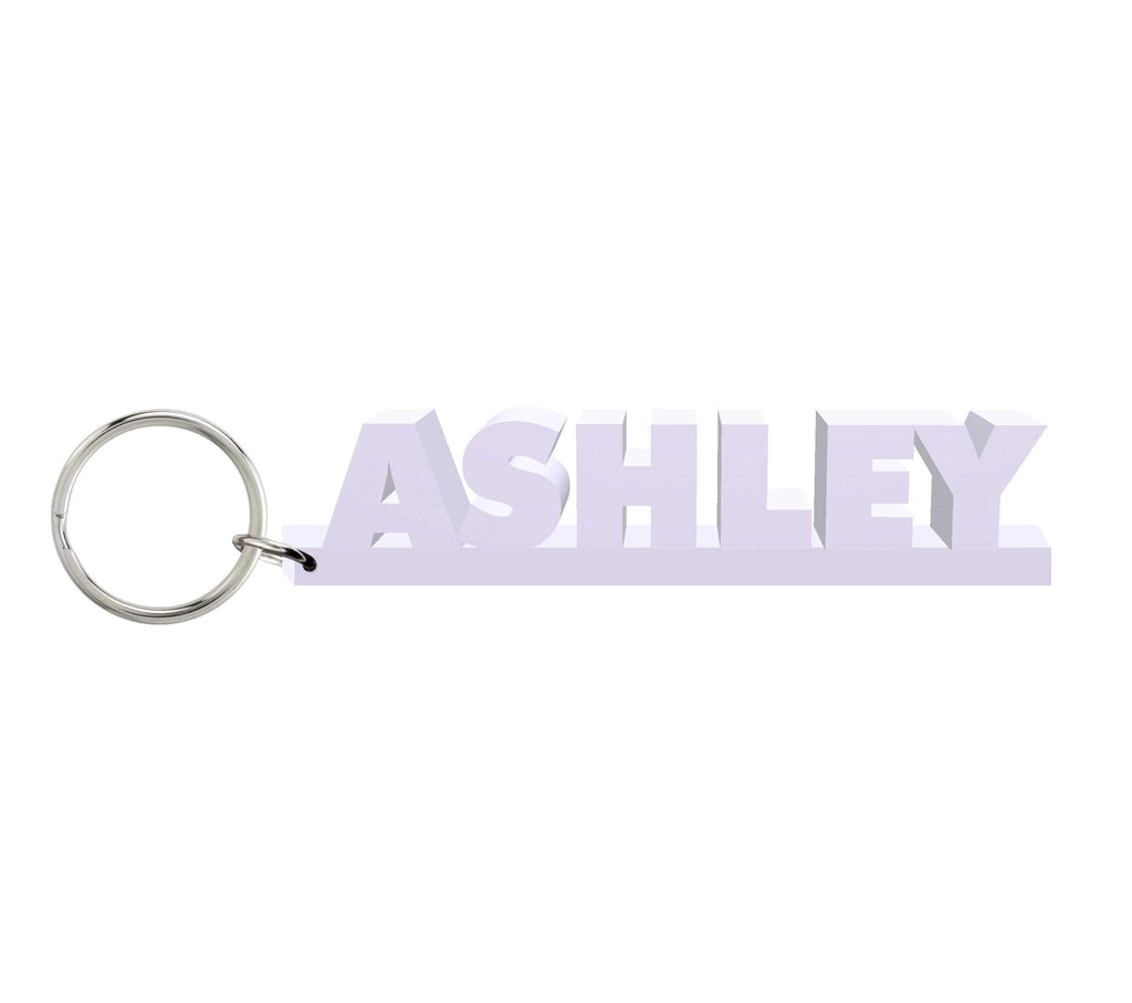 Ashley Wooden Name Keychain