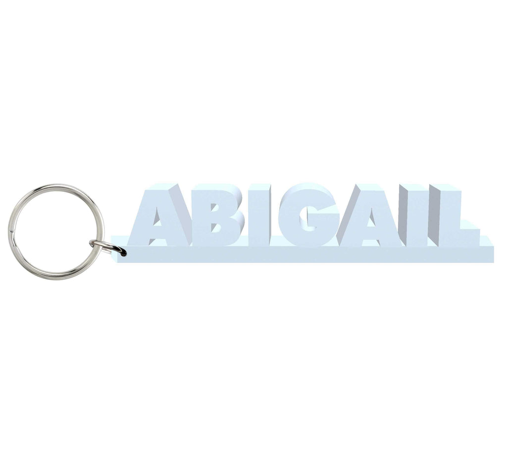 Abigail Wooden Name Keychain