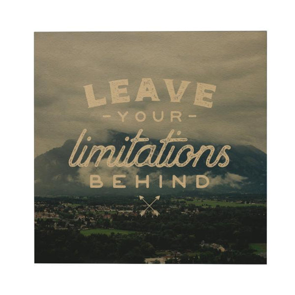 Leave Your Limitations Postcard
