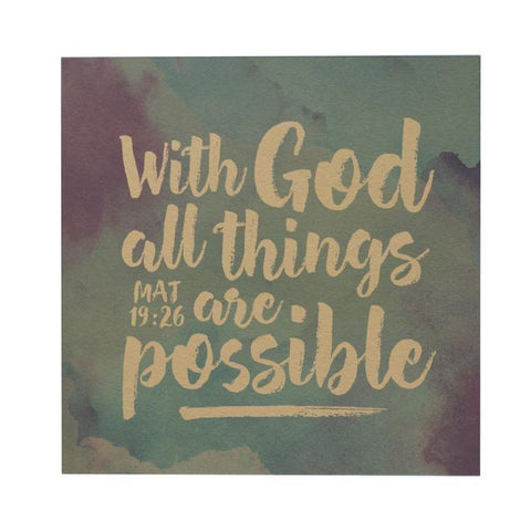 With God All Thing Postcard
