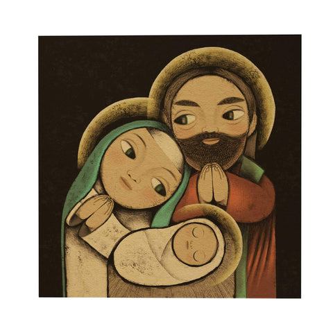 Holy Family Postcard: Black
