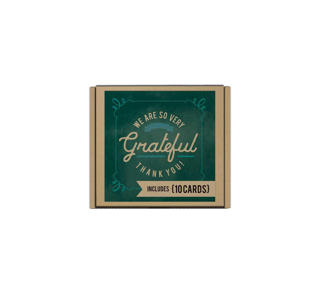 We Are so Very Grateful Small Blank Card Set