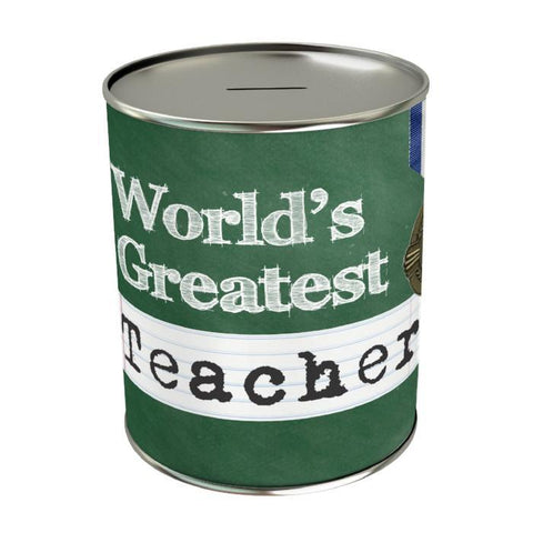 World's Greatest Teacher Coin Bank