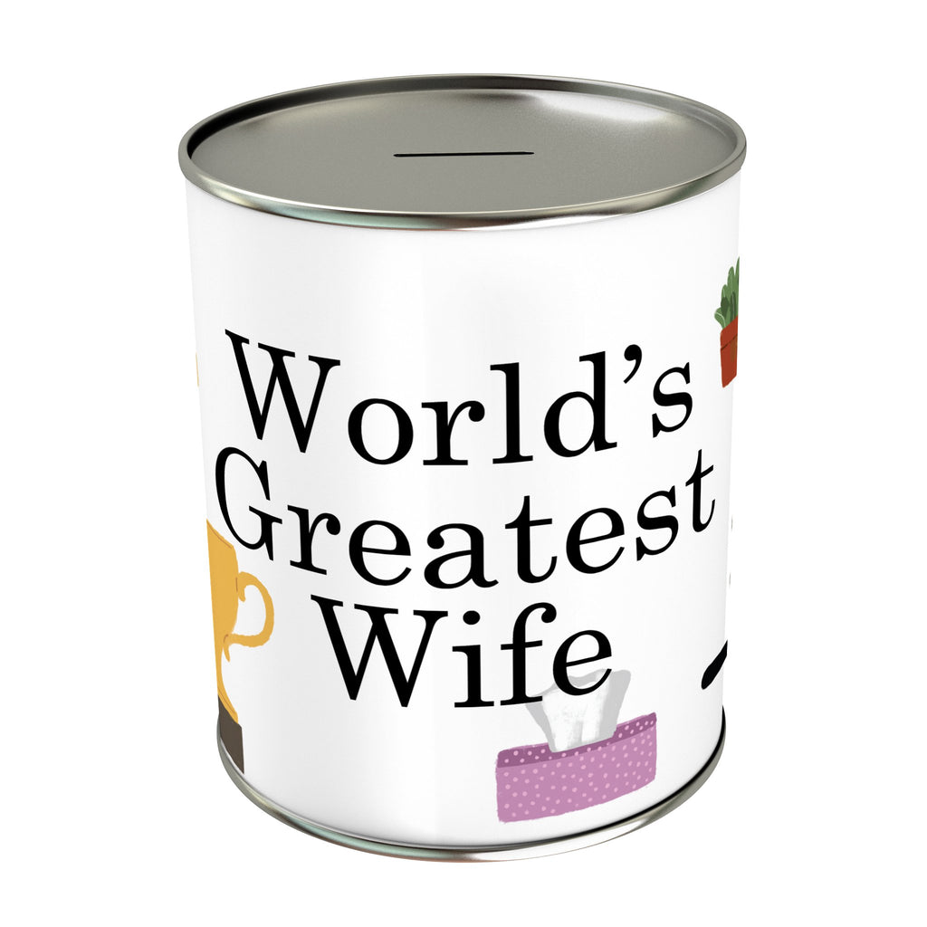World's Greatest Wife Coin Bank