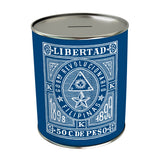 Vintage Philippine Stamp Coin Bank: Libertad
