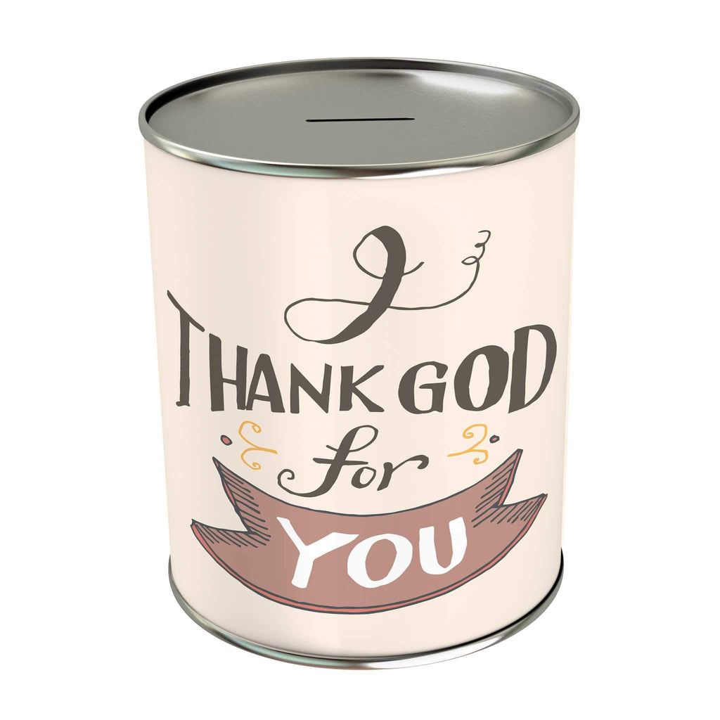Words of Love Coin Bank: I Thank God for You