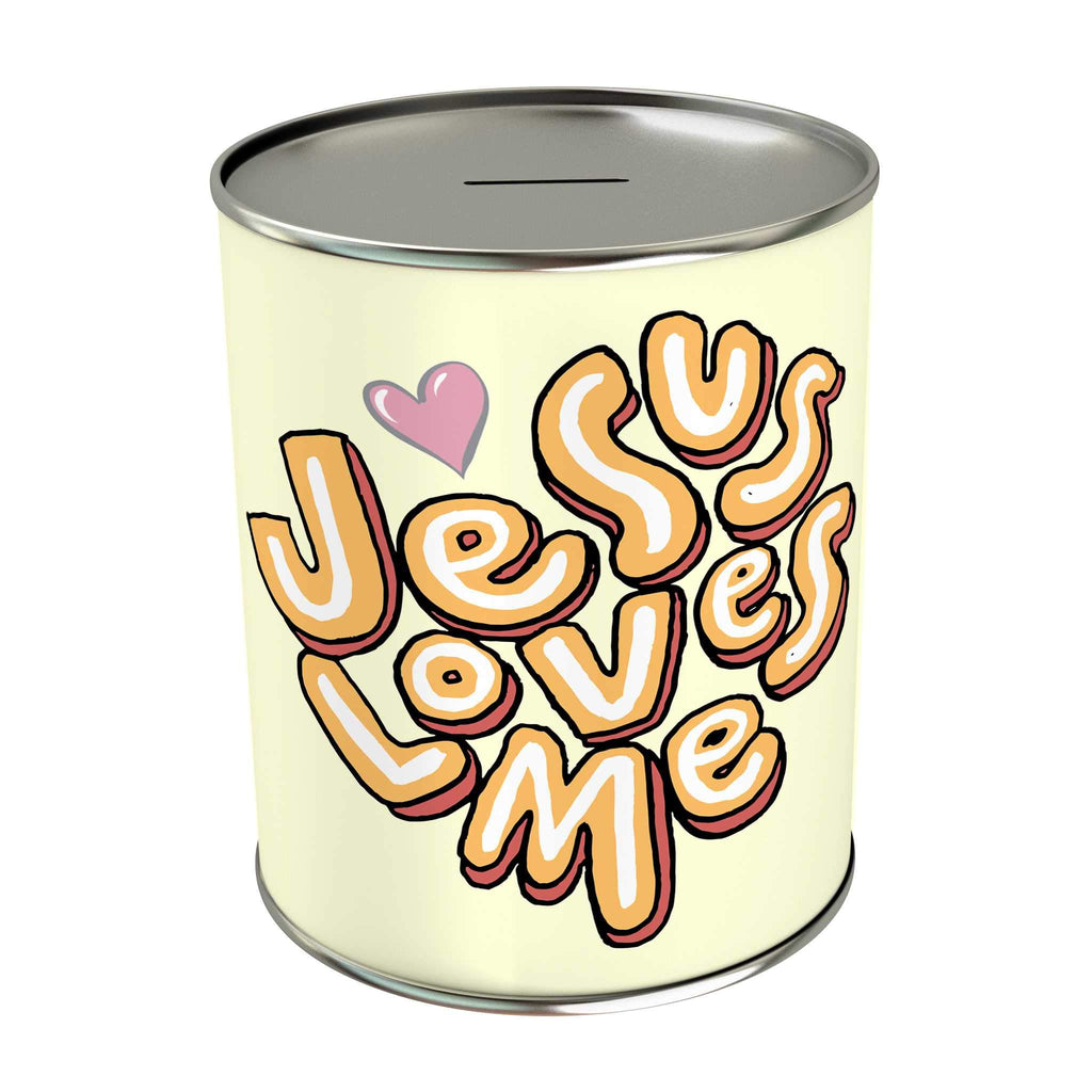 Words of Love Coin Bank: Jesus Loves Me