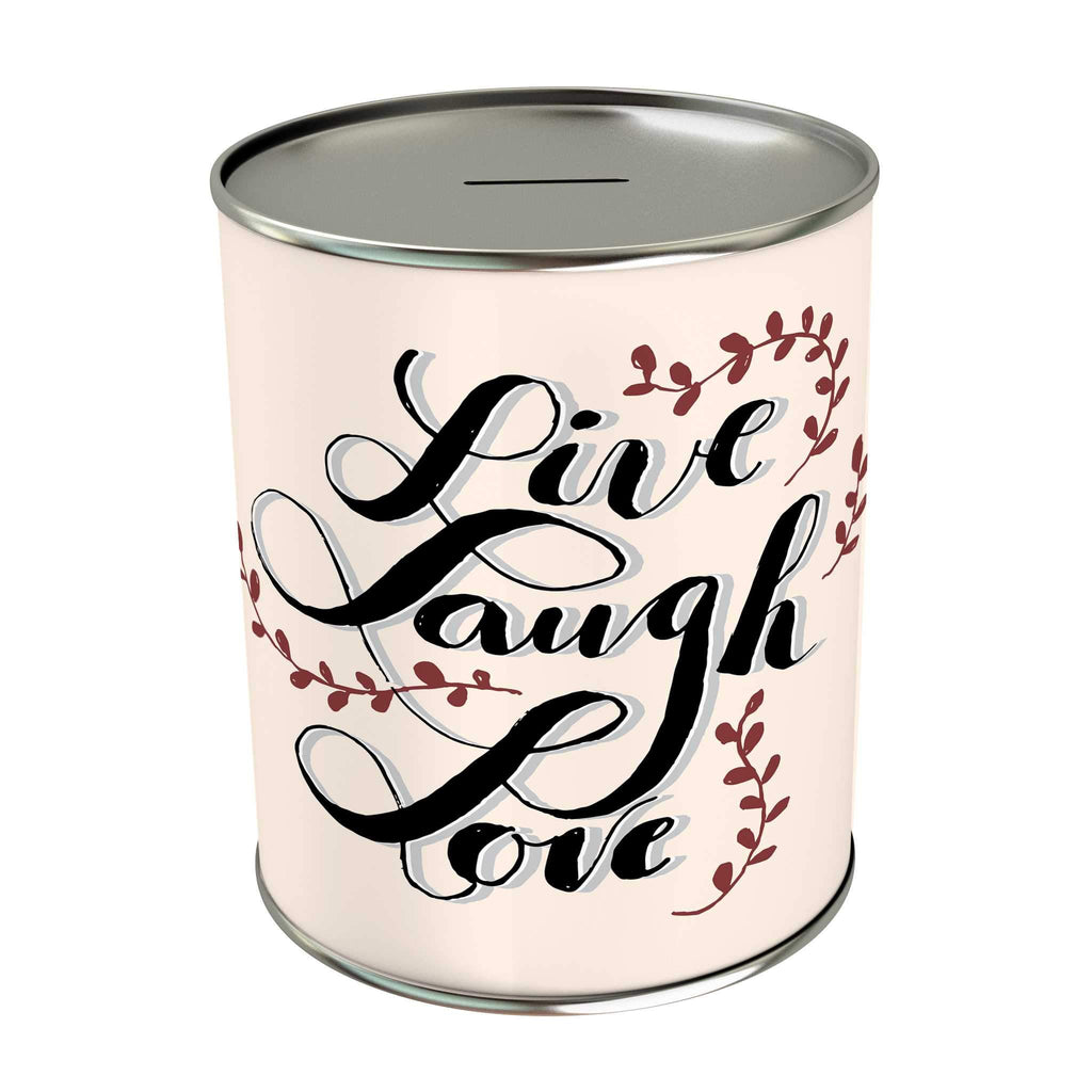 Words of Love Coin Bank: Live Laugh Love