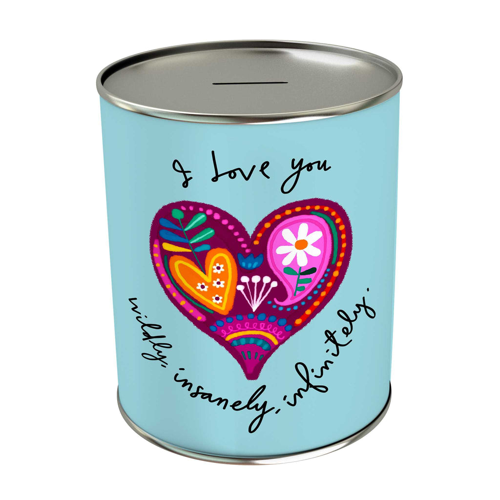 Affirmation Coin Bank: I Love You