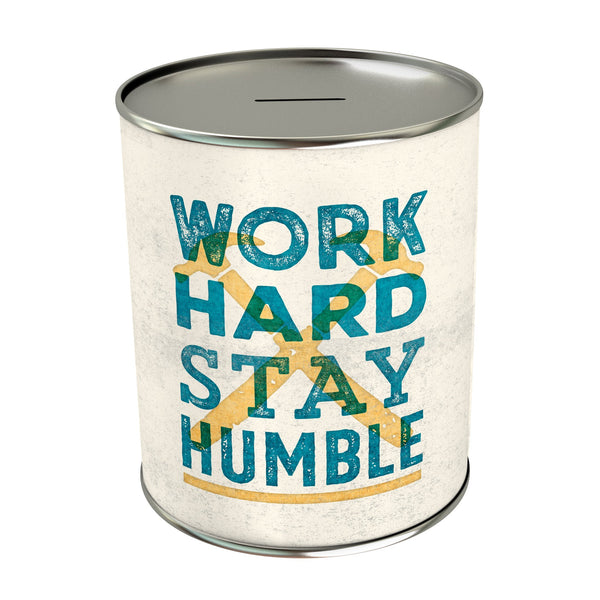 Work Hard Stay Humble Coin Bank