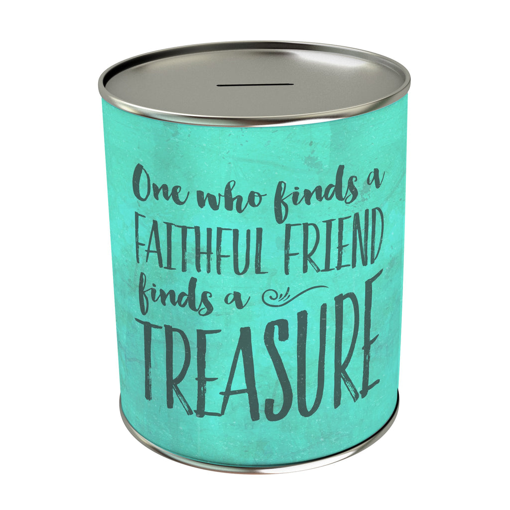 One Who Find a Faithful Friend Coin Bank