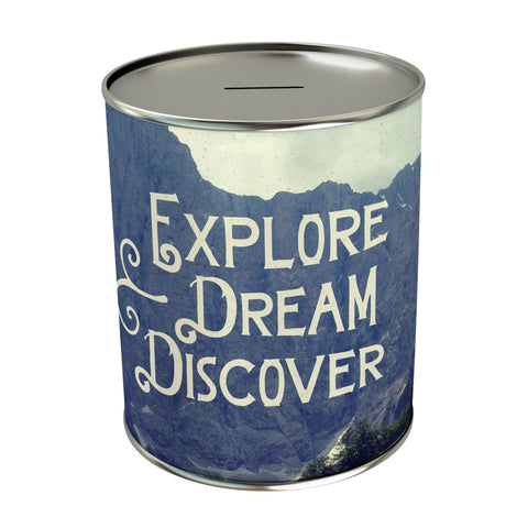 Explore Dream Discover Coin Bank
