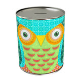 Green Owl Coin Bank