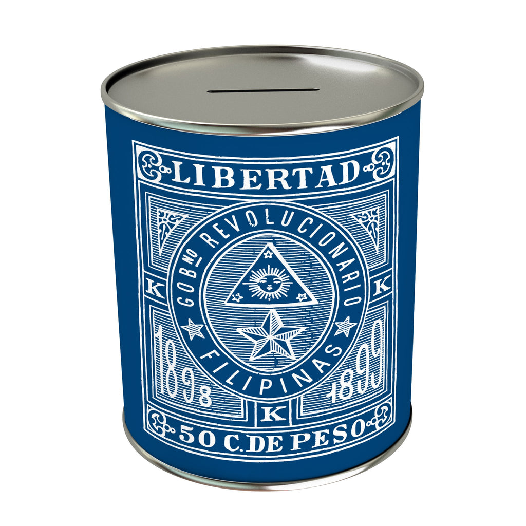 Vintage Philippine Stamps Coin Bank: Libertad