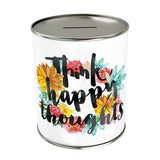 Think Happy Thoughts Coin Bank
