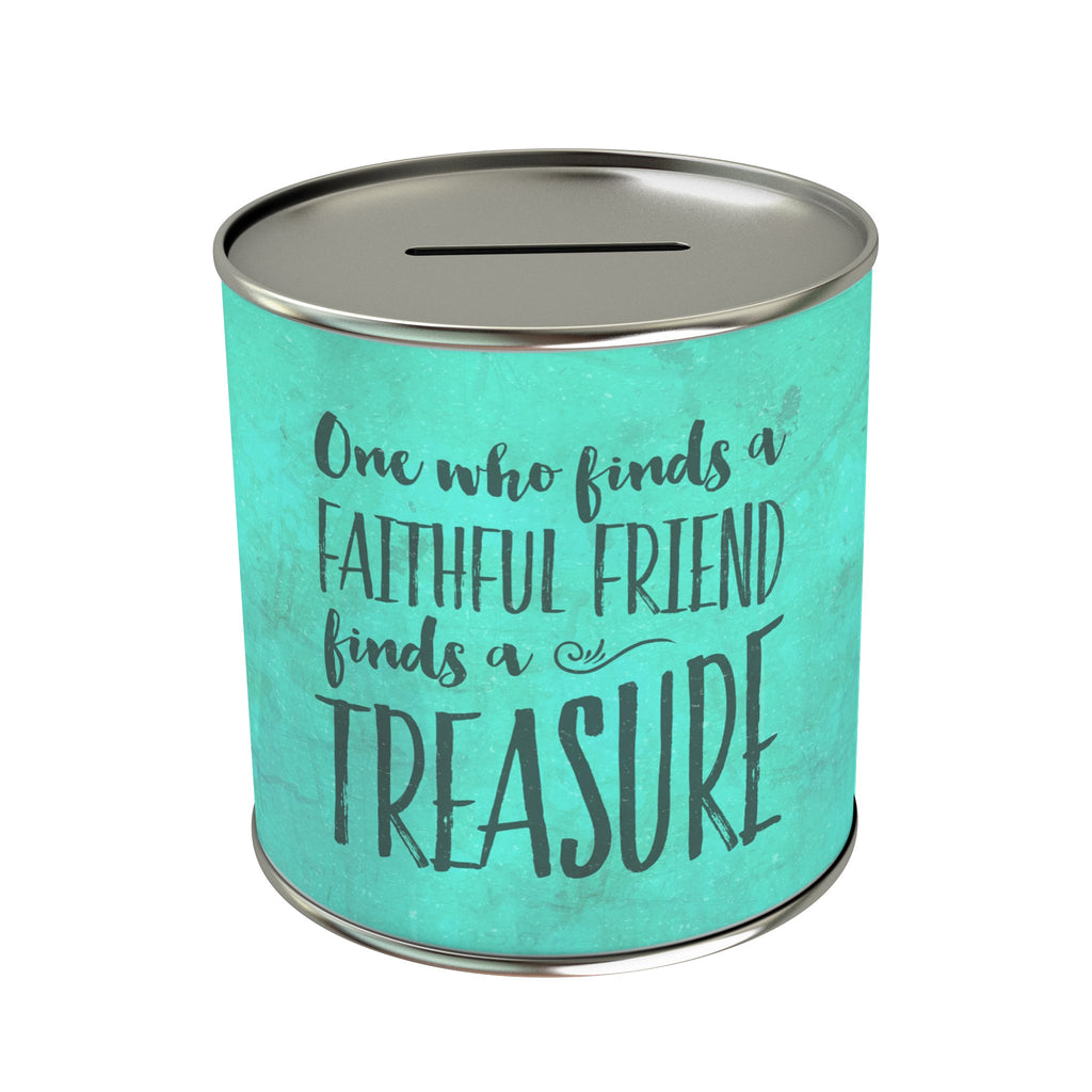 One Who Finds a Faithful Friend Coin Bank