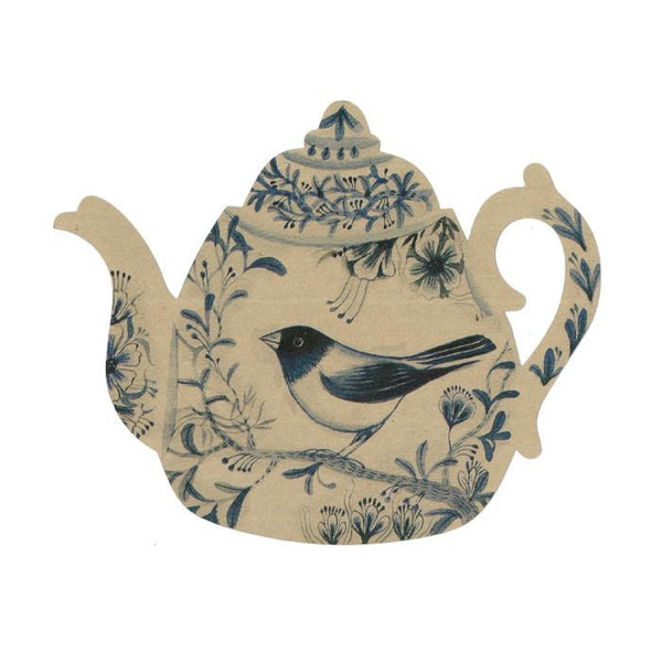 Blue Bird Teapot Postcard
