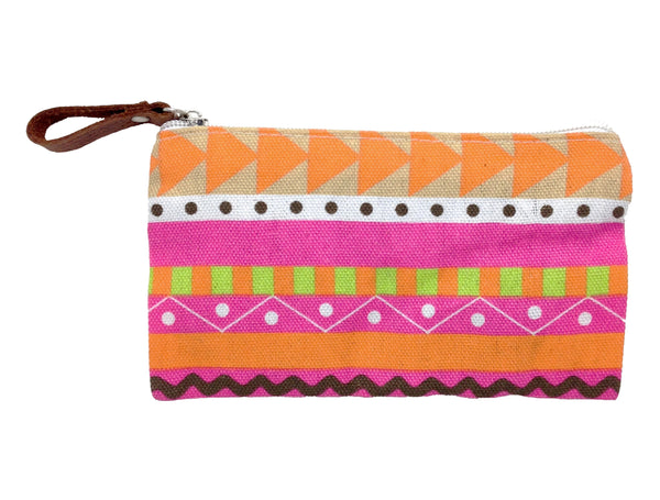 Geometric Pouch: Pink
