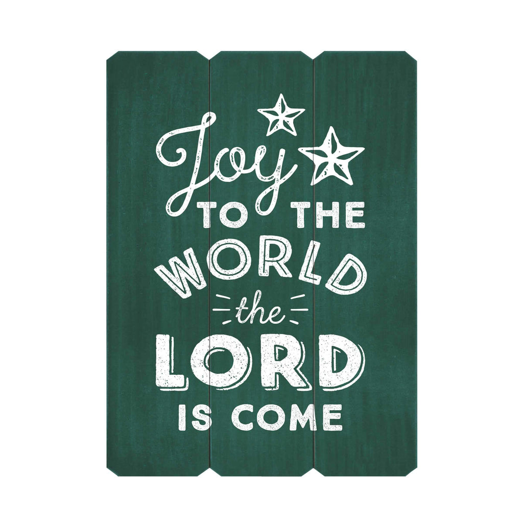 Joy to the World Fence Silkscreen Wall Art