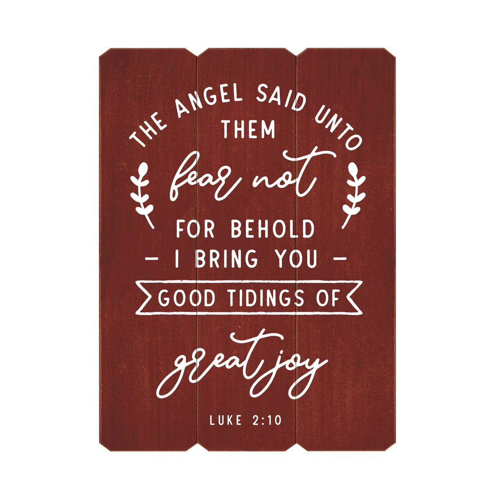 Good Tidings of Great Joy Fence Silkscreen Wall Art