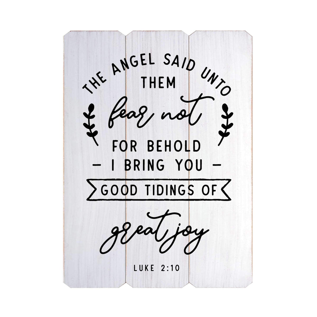 Good Tiding of Great Joy Fence Silkscreen Wall Art
