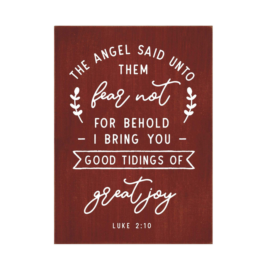 Good Tidings of Great Joy Flat Silkscreen Wall Art