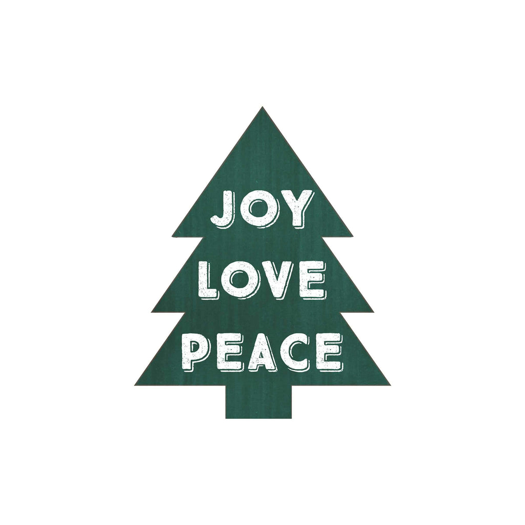 Joy Love Peace Christmas Tree
