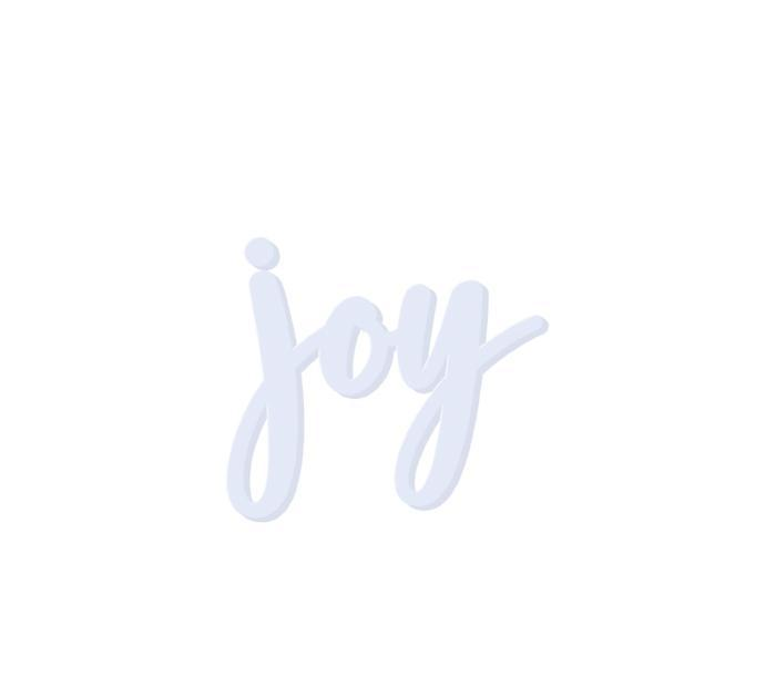 Joy Wooden Word