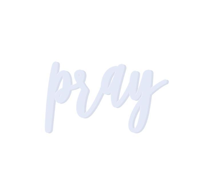 Pray Wooden Word