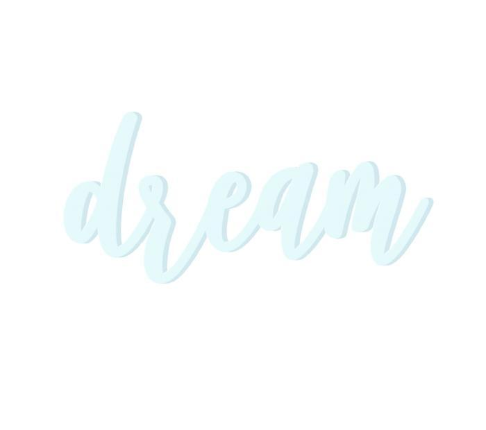 Dream Wooden Word