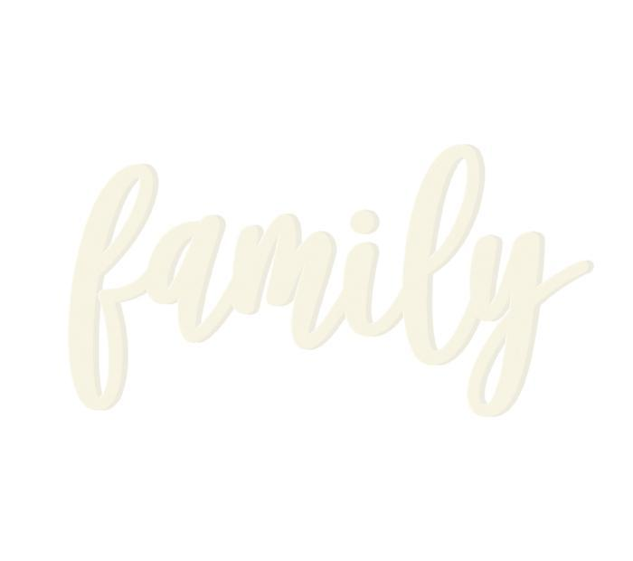 Family Wooden Word
