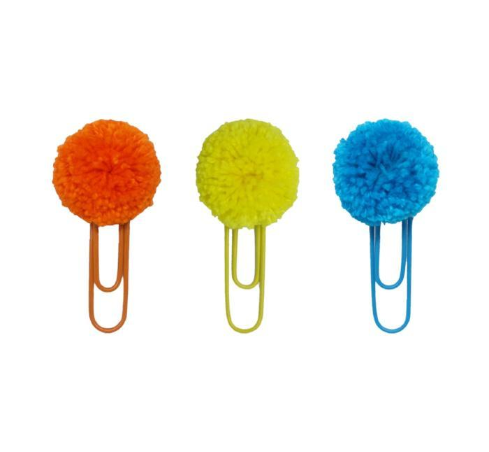 Assorted Pompom Paper Clips