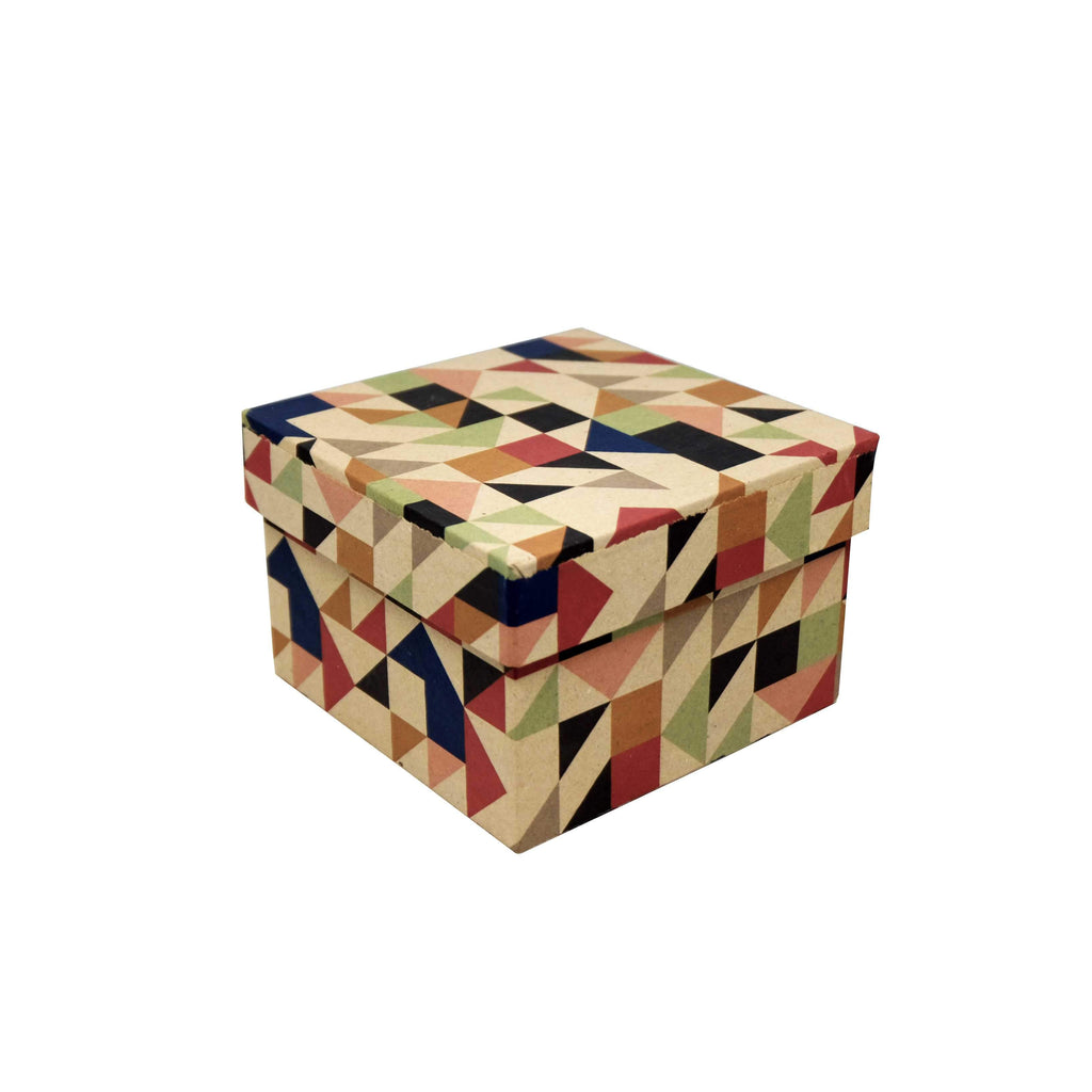 Square Gift Box: Abstract Triangle