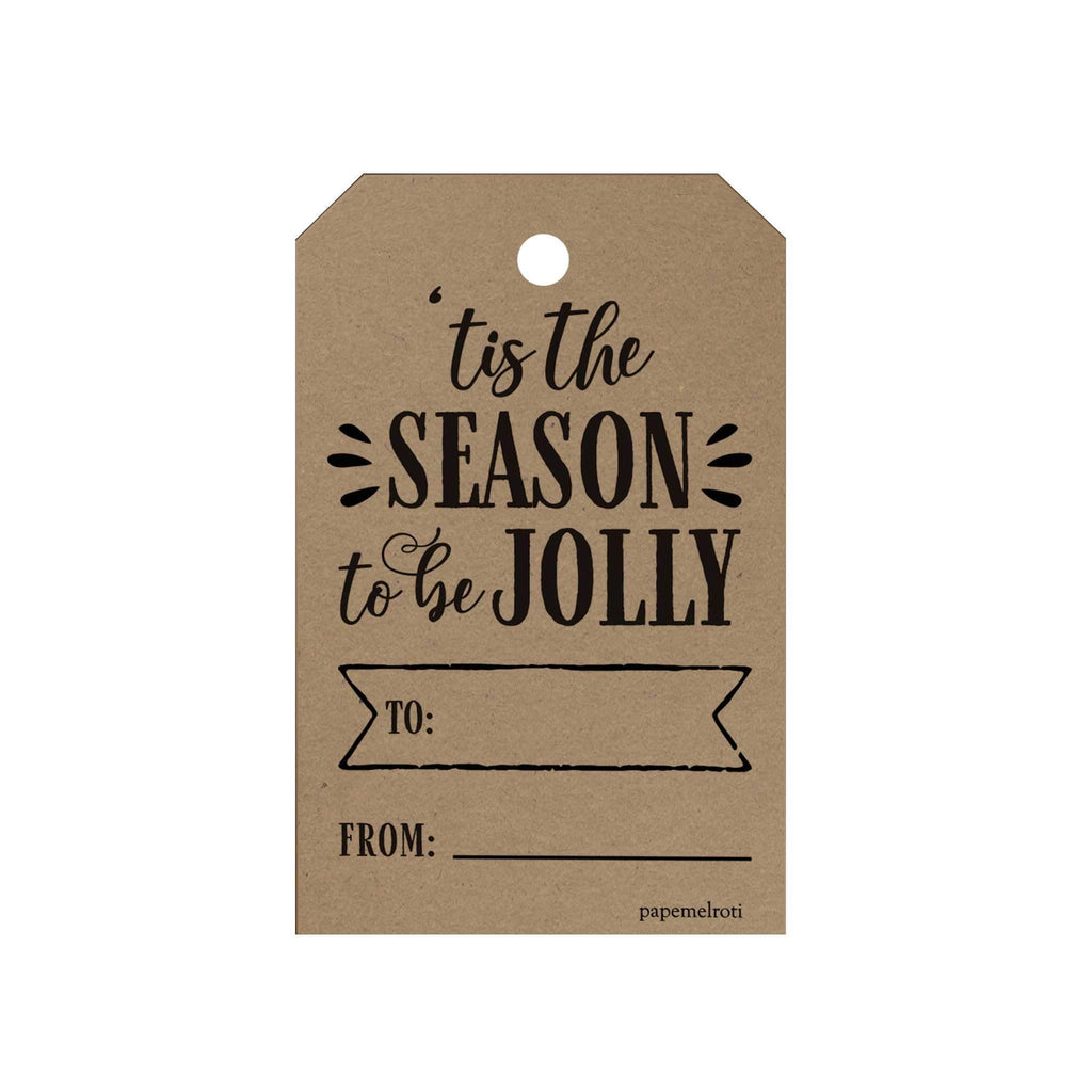 Tis the Season to Be Jolly Gift Tags
